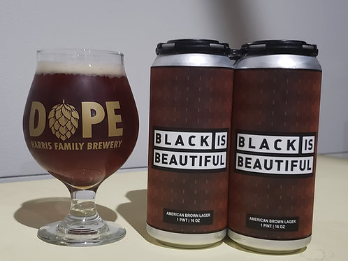 HFB-BLACK IS BEAUTIFUL 16OZ GLASS
