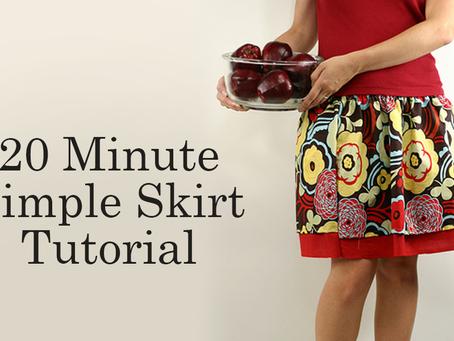20 Minute Simple Skirt Tutorial