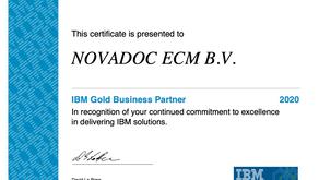 Novadoc benoemd tot IBM GOLD PARTNER in 2020
