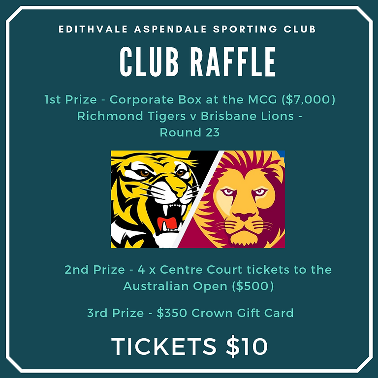 Edithvale Aspendale Football Club 2019 Raffle