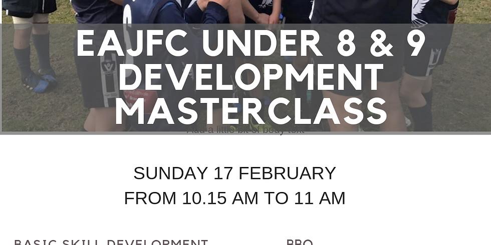 EAJFC UNDER 8 & 9 Development Masterclass
