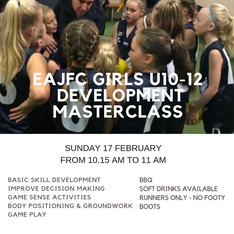 Under 10-12 Girls Masterclass