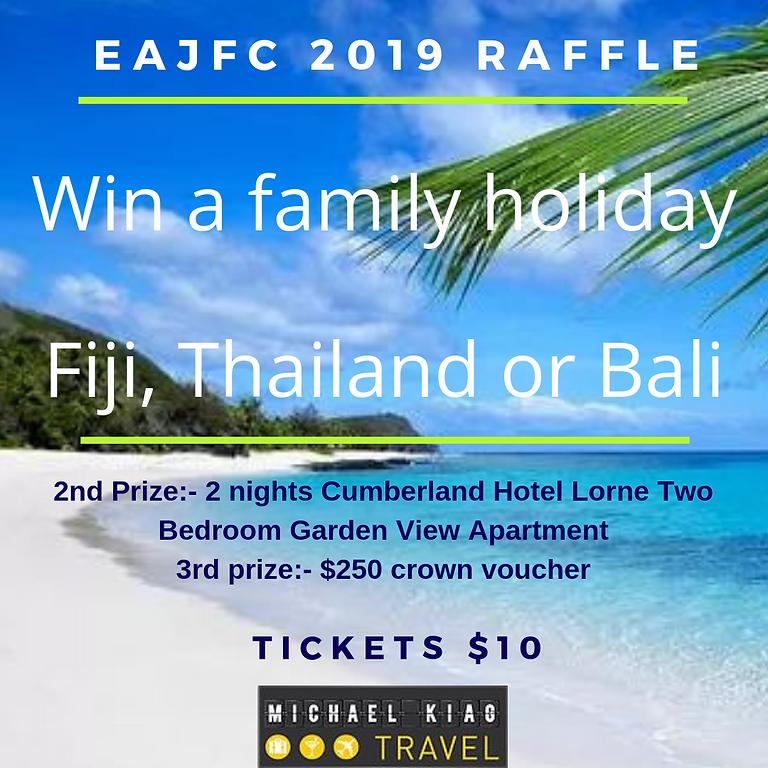 EAJFC 2019 RAFFLE - WIN A FAMILY HOLIDAY