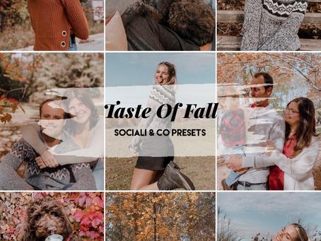 """NEW """"Taste of Fall"""" Preset Package"""