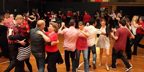Brisbane ballroom dancing in action at Orchard's