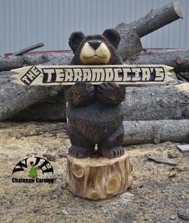 4 foor sign bear front