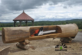 Back side of Timber Tech Log