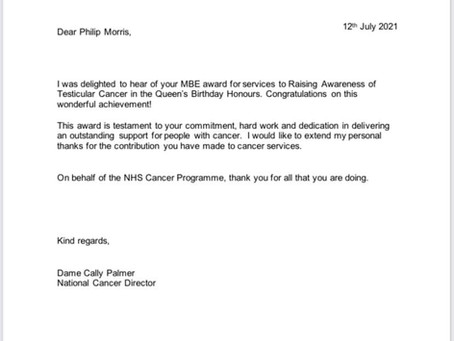 Nice letter from the top lady in cancer
