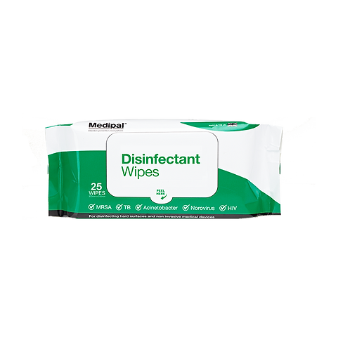 25 Wipes Soft Pack - Disinfectant Wipes
