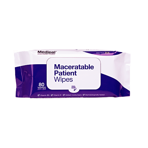 80 Maceratable Wipes Soft Pack- Patient Care Wipes