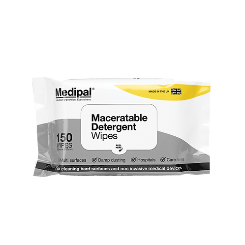 150 Maceratable Wipe Soft Pack - Detergent Wipes