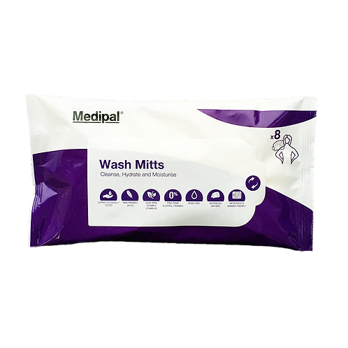 8 Patient Cleansing Mitts - Patient Care Wipes