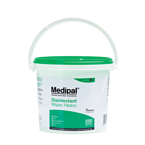 250 Heavyweight Wipe Bucket - Disinfectant Wipes