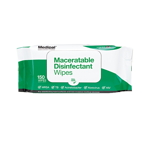 150 Maceratable Wipe Soft Pack - Disinfectant Wipes