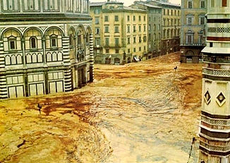 Firenze-Piazza del Duomo - 4 Noviembre 1966