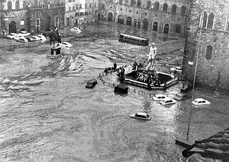 Piazza della Signoria - 4 Noviembre 1966