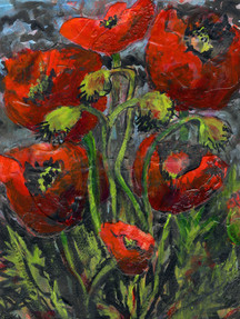 Poppies 5 - SOLD