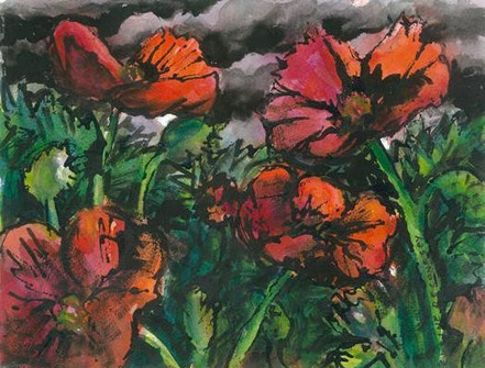 Poppies 4 - SOLD