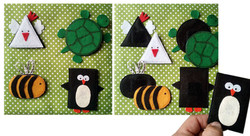 No. 034 - Geometric shapes, animals