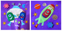 No. 028 - Space (finger puppets)