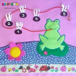 No. 047 - Frog and flies (girl)