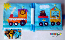 No. 032 - ZOO train (finger puppets)