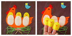 No. 031 -  Chickens (finger puppets)