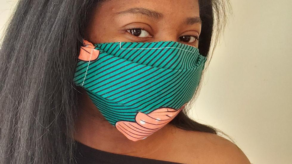 """""""Loren+"""" Print W/ Filter Pocket Face Mask"""