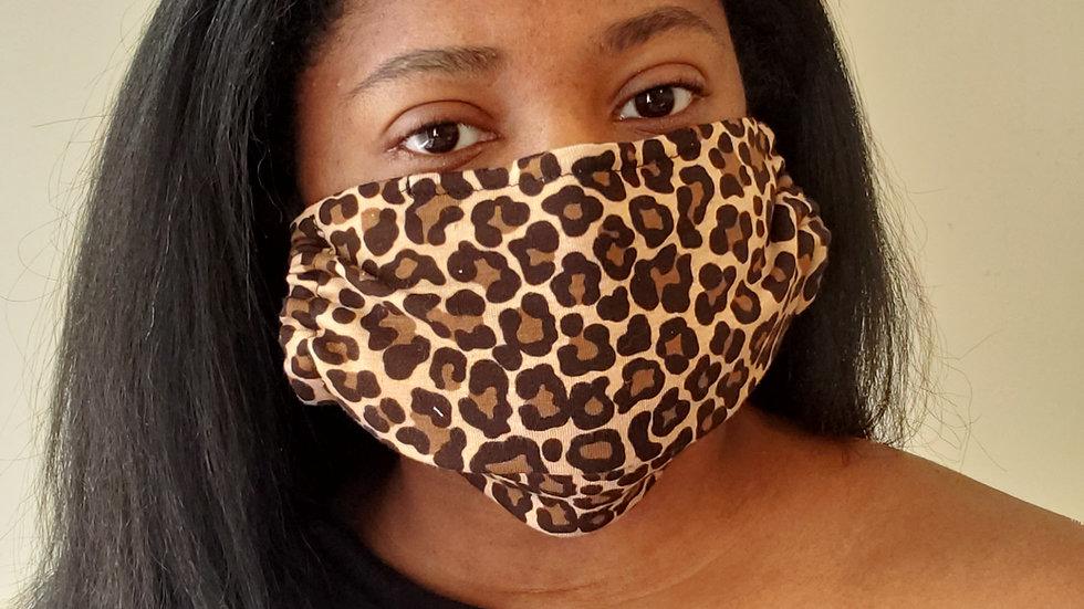 """Samantha"" Leopard Print Face Mask"