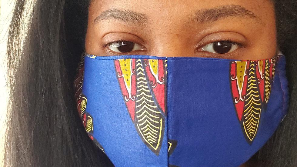 """Tribe"" Print Face Mask"