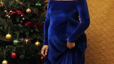 "Velvet ""Sarah""Dress "" Royal Blue"""