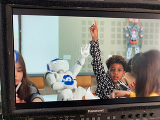 We are filming an image clip for Tel Aviv University with Dr. Goren Gordon and our robots