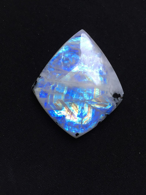Rainbow Moonstone Cabochon 1 Piece Size 56 MM Approx
