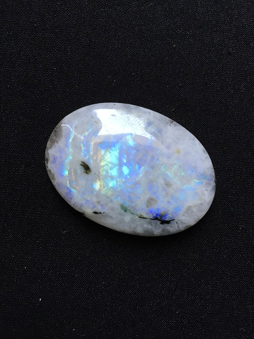 Rainbow Moonstone Cabochon 1 Piece Size 40 MM Approx