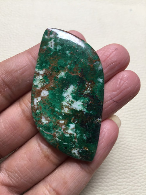 Chrysocolla Cabochon 1 Pieces Size: 55 MM Approx