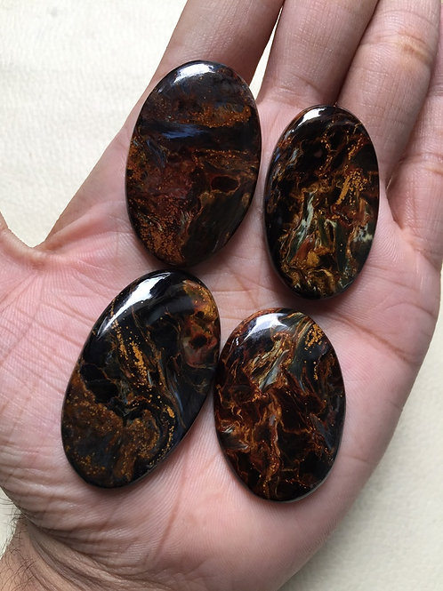 Pietersite Cabochons 4 Pieces Size 44-38 MM Approx