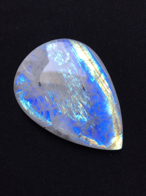 Rainbow Moonstone Cabochon 1 Piece Size 62 MM Approx
