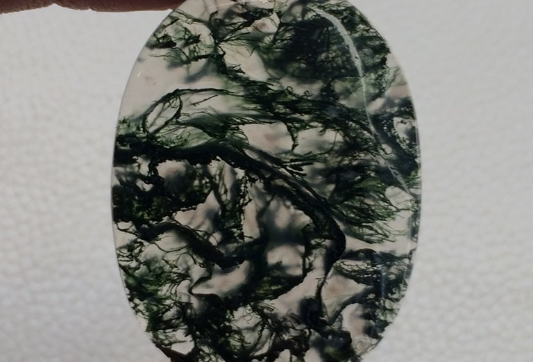 Moss Agate  Cabochon 1 Piece Size: 42 MM Approx
