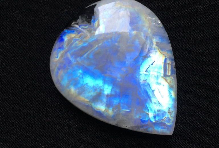Rainbow Moonstone Cabochon 1 Piece Size: 40 MM Approx