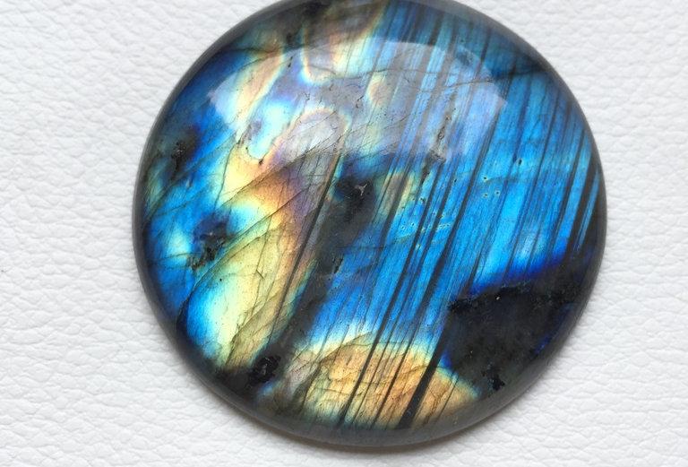Labradorite Cabochon 1 Piece Size: 48 MM Approx