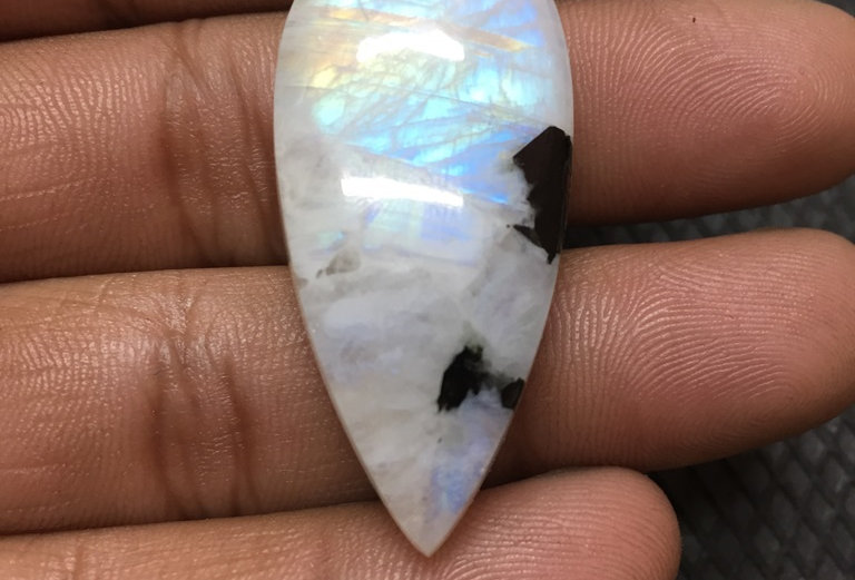 Rainbow Moonstone Cabochon 1 Piece Size: 43 MM Approx