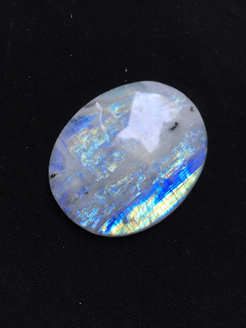Rainbow Moonstone Cabochon 1 Piece Size 47 MM Approx