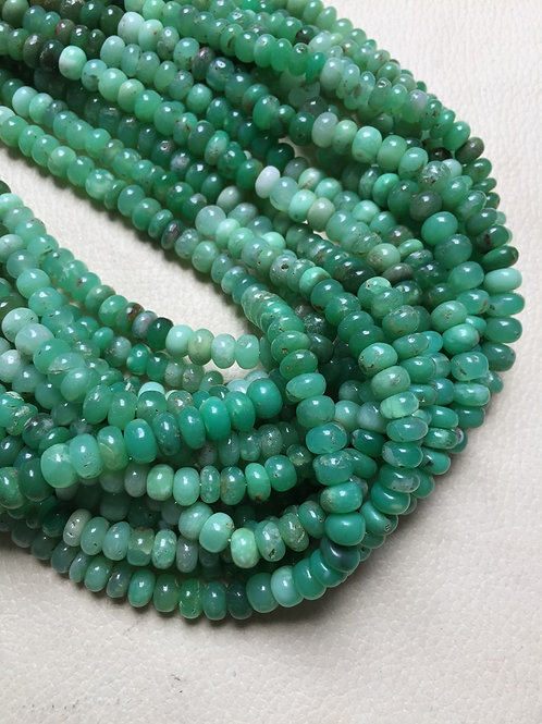 """Chrysoprase 14"""" 1 Strand Beads Size 7-8 MM Approx"""