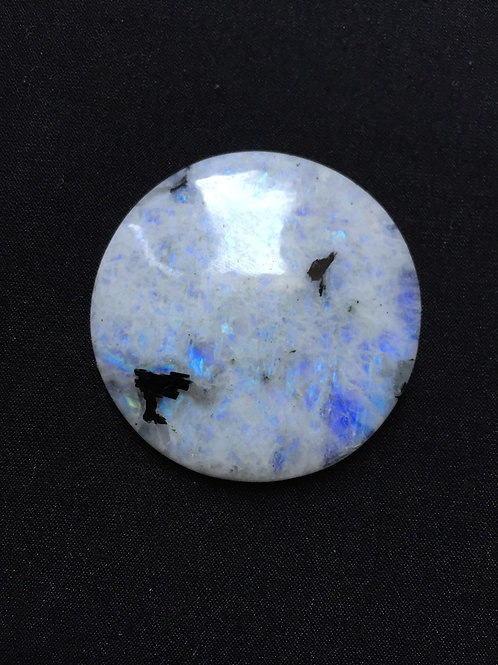 Rainbow Moonstone Cabochon 1 Piece Size 44 MM Approx