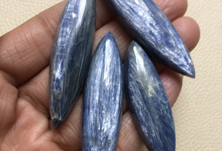 Kynite Cabochon 4 Piece Size: 62-49 MM Approx