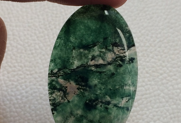 Moss Agate  Cabochon 1 Piece Size: 45 MM Approx