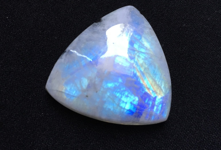 Rainbow Moonstone Cabochon 1 Piece Size: 32 MM Approx