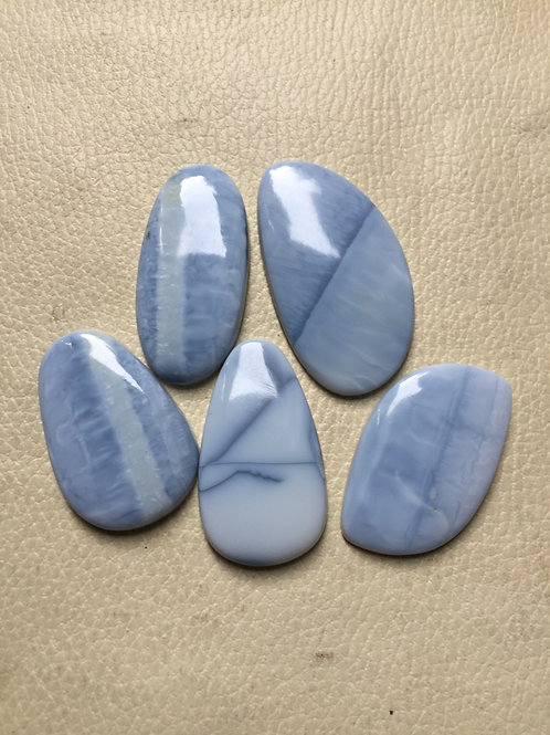 Blue Opal Cabochon 5 Piece Size: 50-39 MM Approx