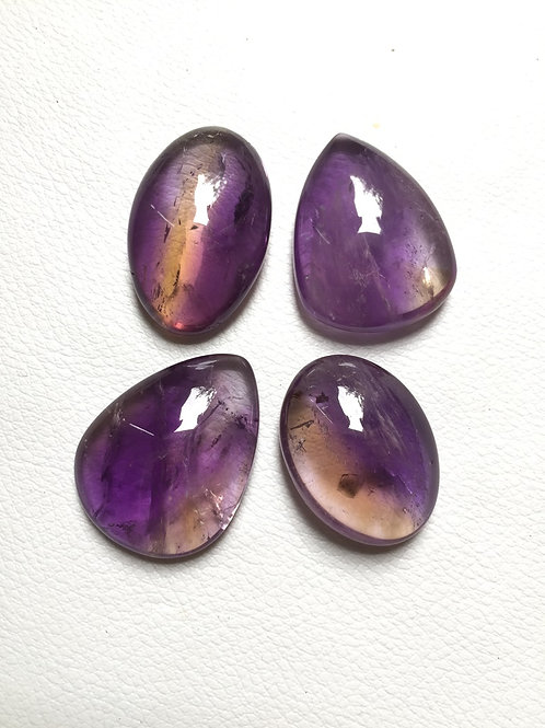 Ametrine  Cabochon 4 Pieces Size : 36-30 MM Approx