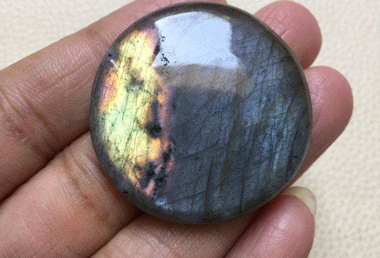 Labradorite Cabochon 1 Piece Size: 37 MM Approx